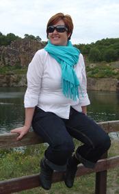 Dorthe før hun tabte sig 10 kilo